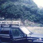 この辺りは「山ウド」の群生地。この車にカーナビを外付けで付けた。 (大井川・中ノ宿)