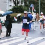 駿府公園堀の廻りをよく走ったものだ。 (平成10年4月)