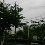 小雨まじりの今朝の空(AM6:00)